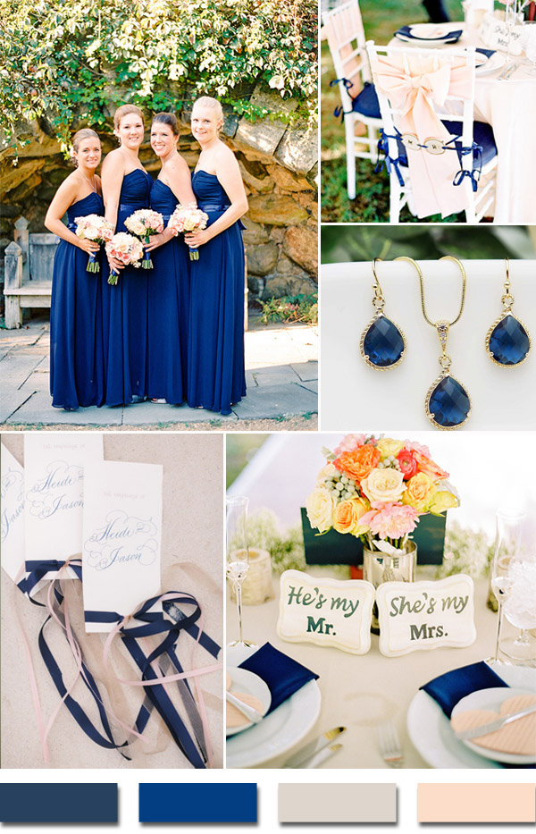 2015-trends-navy-blue-and-blush-wedding-color-ideas